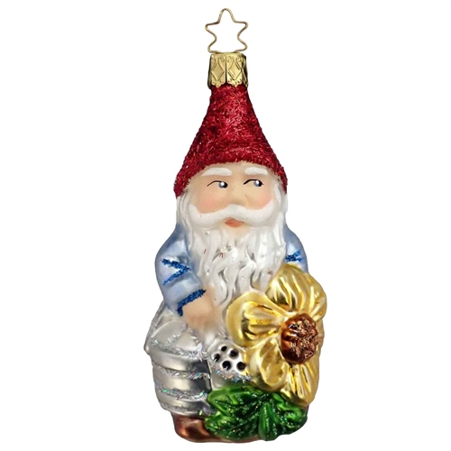 Inge Glas Gnome With Flower
