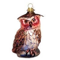 German Blown Glass Forest Owl