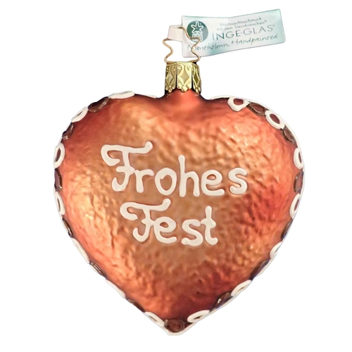 Inge Glas Christmas Fest Gingerbread Heart Frohes Fest