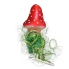 Inge Glas Mini Clip-On Mushroom Ornament W/Grass