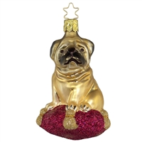 Inge Glas Pug Ornament