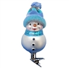 Inge Glas Snowman With Blue Knit Hat