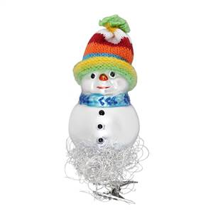Inge Glas Snowman With Real Knit Hat
