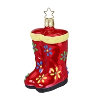 Inge Glas Wellies Red Rain Boots  3.5""
