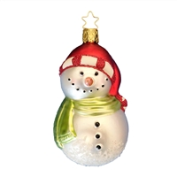 Inge Glas Snowman W/Scarf & Carrot Nose