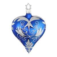 Inge Glas Brokat Heart Blue