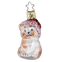 Inge Glas Christmas Cat W/ Santa Hat