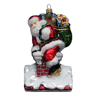 XL Santa On Chimney  Exclusive