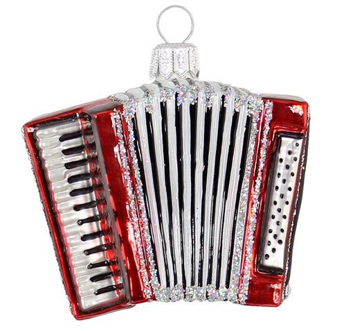 Red Accordian Accordeon