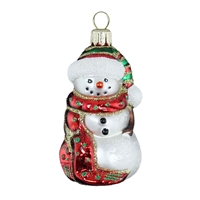 Snowman Red Scarf  3""