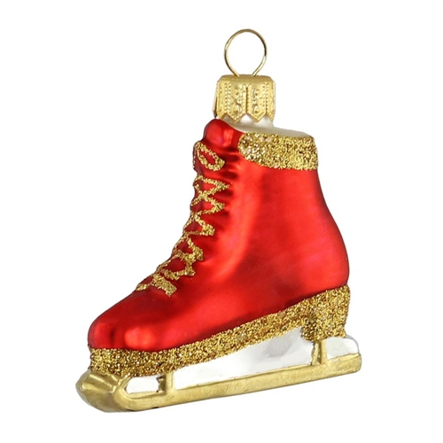 Red Gold Ice Skate