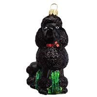 Black Puddle Dog Ornament
