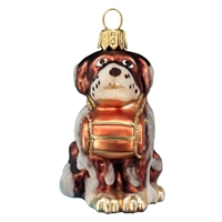 St Bernard Rescue Dog Ornament