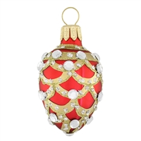 Faberge Egg Red  2.3""
