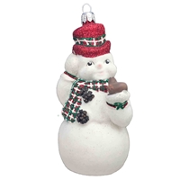 Snowman With Felt & Red Hat