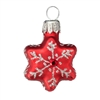 Mini Red Star With Snowflake