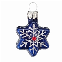Mini Blue Star With Snowflake