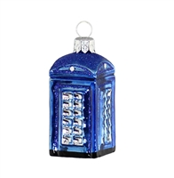 Small Blue British Telephone Booth
