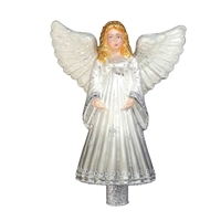 Exclusive Series Silver & White Angel Tree Topper Finial