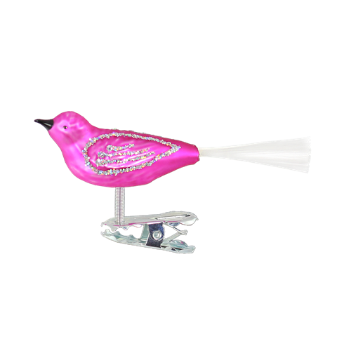 Mini Clip-On Pink Bird