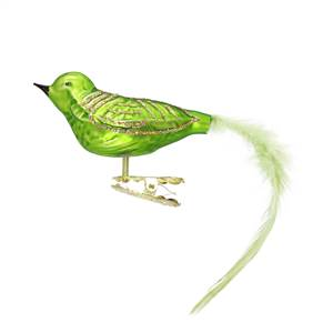 Medium Clip-On Kiwi Green Bird