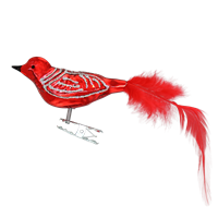 Medium Clip-On Gloss Red Bird