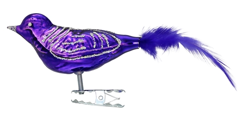 Medium Clip-On Violet Purple Bird  5.5""