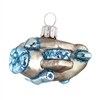 Silver & Blue Biplane Ornament