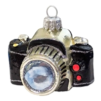 Black SLR Camera Ornament