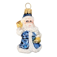 Mini Light Blue Santa
