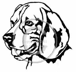 Beagle Dog  Head memorial graphic