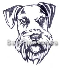 Schnauzer Long Ear Dog memorial graphic