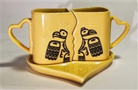 Love Birds Kissing Cups Set
