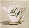White, Tea leaf Tea for One stacker set