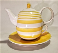 Yellow and White Tea for One stacker set