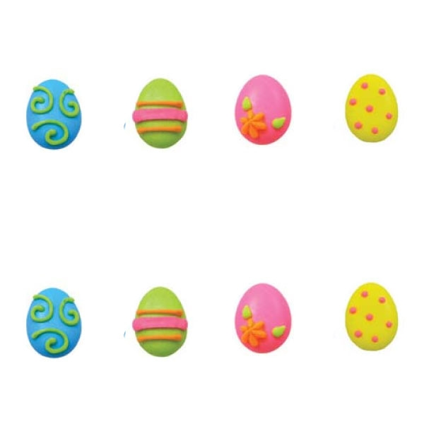 Large Bright Egg Assortment Icing- 48/CS