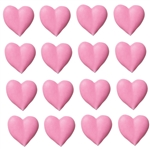 Large Pink Hearts Icing- 96/CS