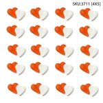 Red & White Double Hearts Icing- 120/CS