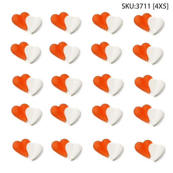 Red & White Double Hearts- 120/CS