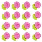 Large Pink Rosettes Icing- 96/CS