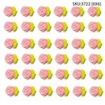 Small Pink Rose Bud Icing- 216/CS