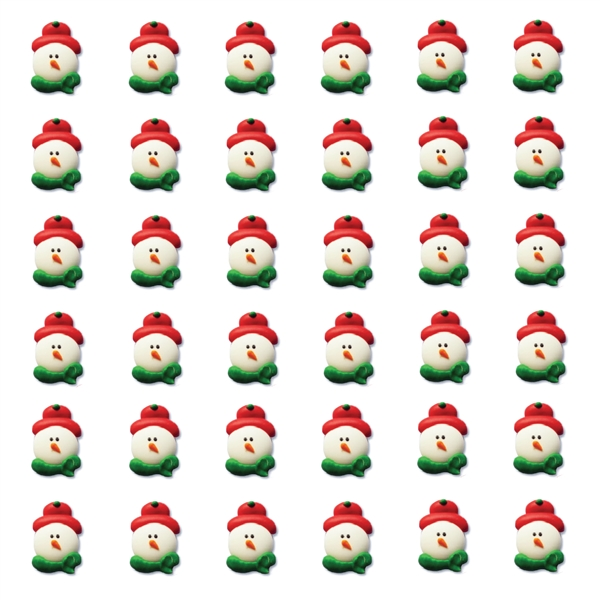 Small Snowman Faces with Red Hat- 216/CS