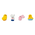 "Medium Spring Chicks and Bunnies Royal Icing 252/BX . ( Approximately 1.0"")"