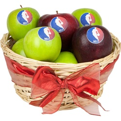 """Healthy"" Logo Apples- Basket of 8"
