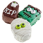 "Halloween Decadent Brownies 2"" -Individually Wrapped"