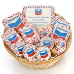 "12- PC Corporate Logo Gift Basket -9"" Round Willow"