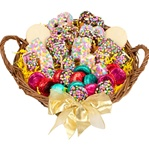 "12"" LARGE CONFETTI CELEBRATION GOURMET GIFT BASKET"