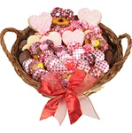 "12"" LARGE SWEETHEARTS GOURMET GIFT BASKET"