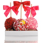 PETITE VALENTINE CARAMEL CHOCOLATE GOURMET APPLE TRIO- GIFT SET OF 3