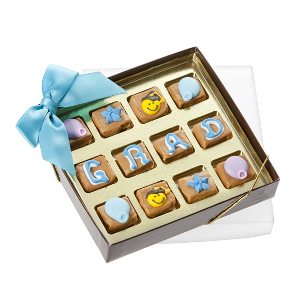 Graduation Caramel Gift Box of 12